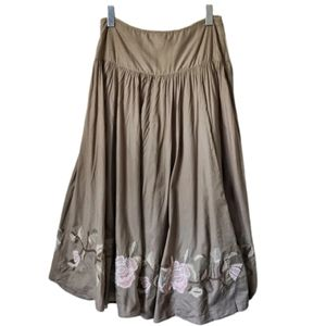 A.N.A Bohemian Gypsy Maxi Skirt Tan 8